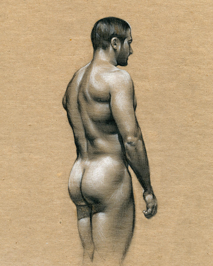 Male Drawing - Carlos by Chris Lopez