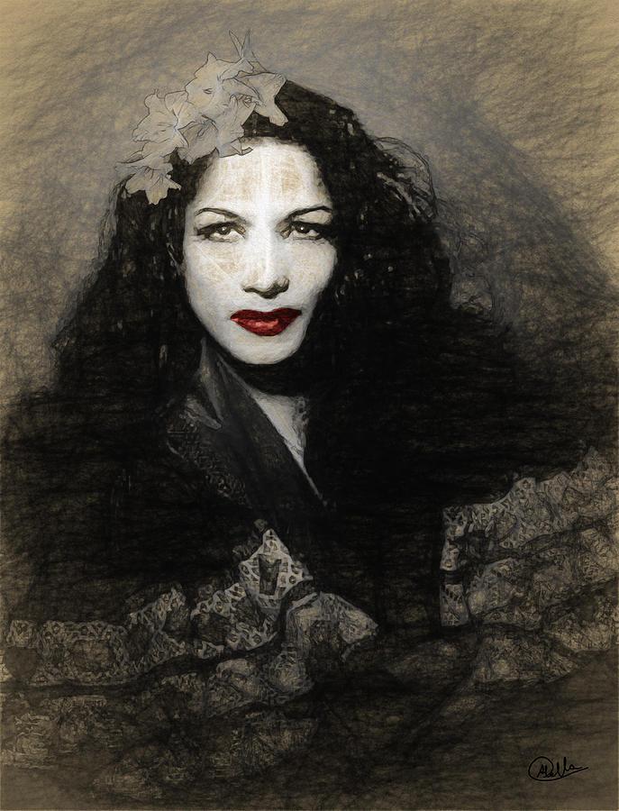 Carmen Amaya Draw Drawing by Joaquin Abella