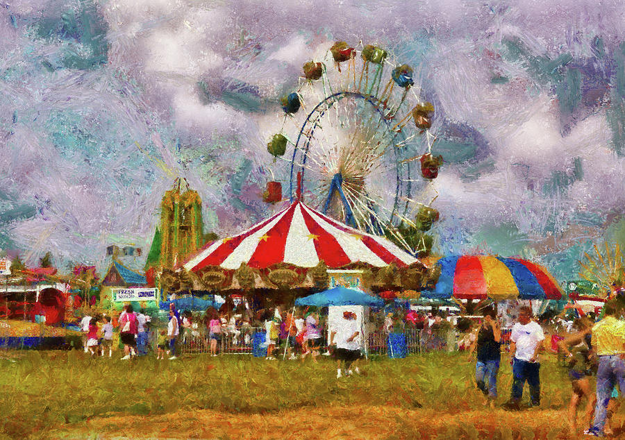 Savad Photograph - Carnival - Look At All The Excitement by Mike Savad