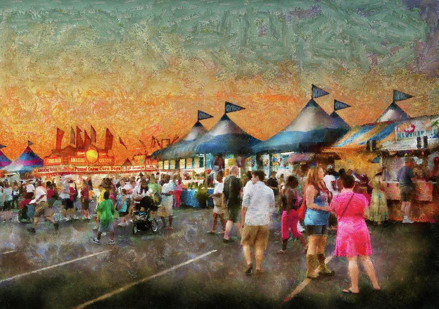 Suburbanscenes Photograph - Carnival - Who Wants Gyros by Mike Savad