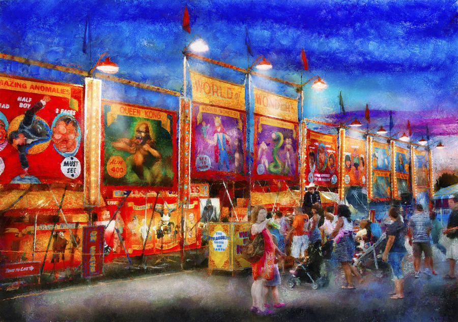 Suburbanscenes Photograph - Carnival - World Of Wonders by Mike Savad