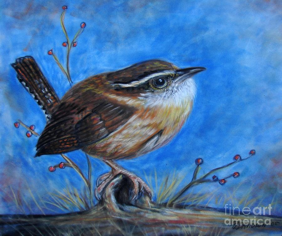 Birds Painting - Carolina Wren by Patricia L Davidson