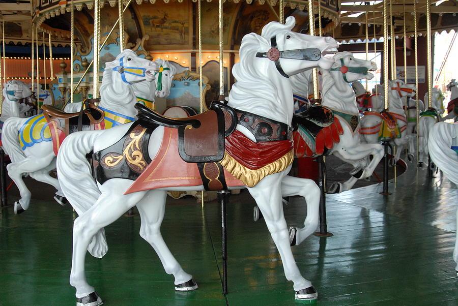Carrousel Horse Canvas Prints Photograph - Carrousel 23 by Joyce StJames