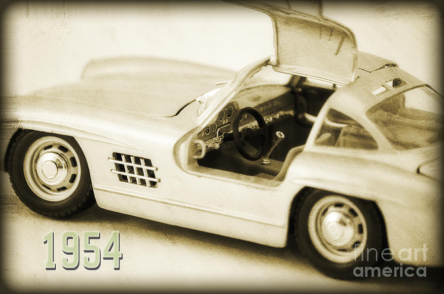 Car Photograph - Cars 1954 II by Angela Doelling AD DESIGN Photo and PhotoArt