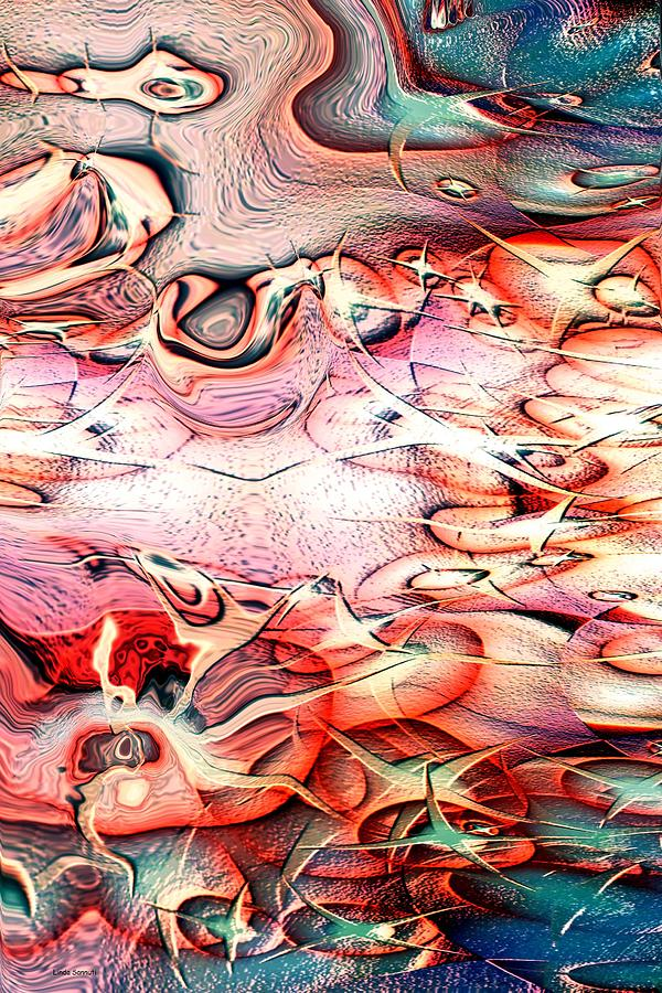 Abstracts Digital Art - Cartoon Planet by Linda Sannuti