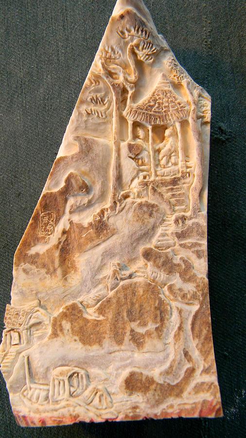 Landscape.figures Relief - Carving A Landscape by Debbi Chan