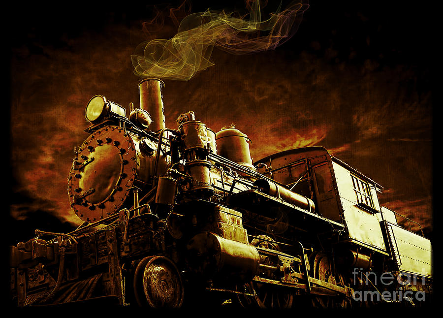 Train Photograph - Casey Jones And The Cannonball Express by Edward Fielding