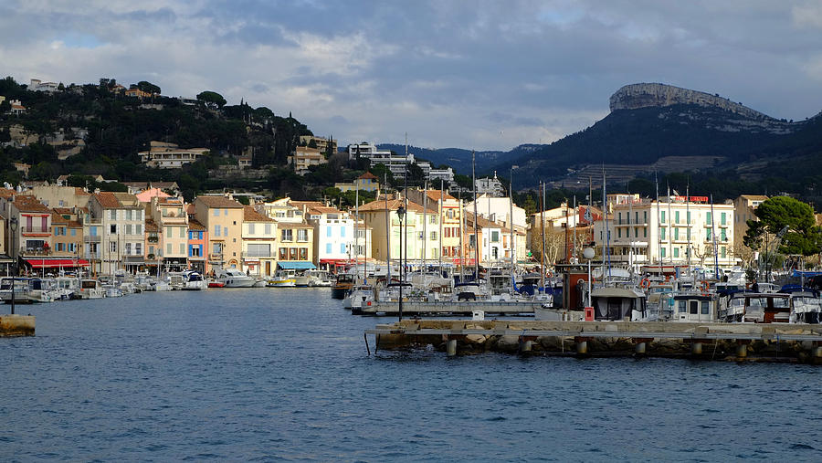 Cassis Town And Harbor Photograph