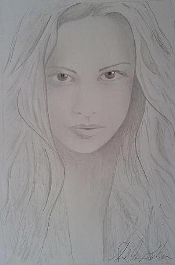 Sketch Drawing - Cassy Blakemore  by Sheila Renee Parker