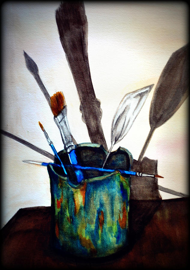 Shadows Painting - Cast Shadows by Colene Milligan