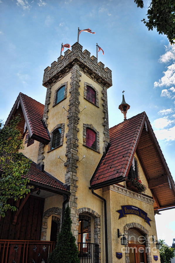 Frankenmuth Hotel Photograph - Castle Frankenmuth by Chris Fleming