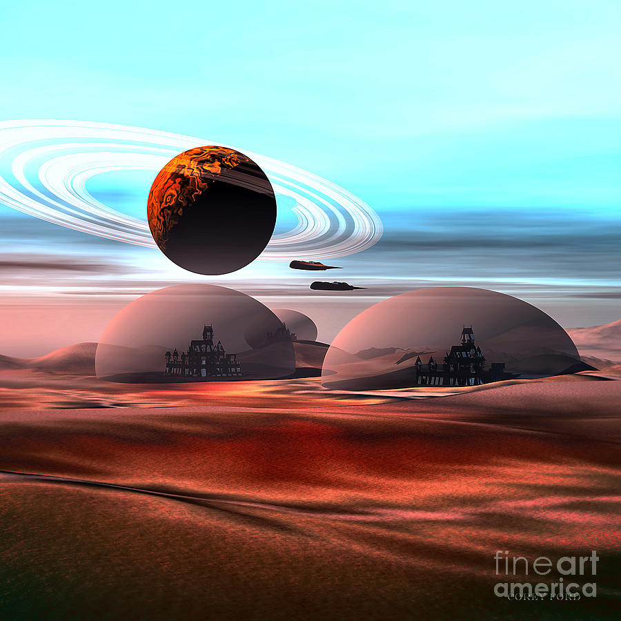Space Art Painting - Castles In The Sand by Corey Ford