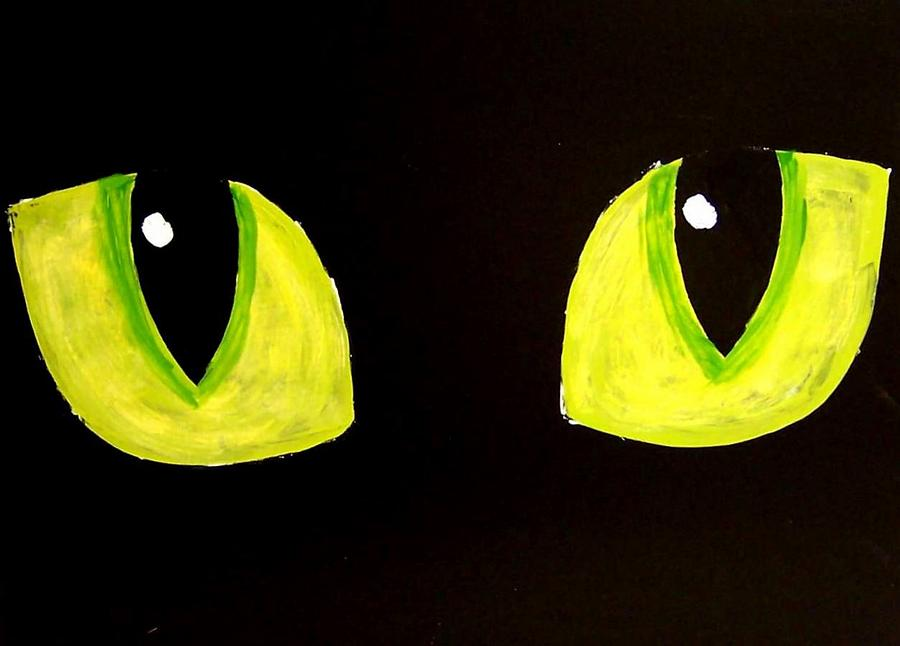 Cat Painting - Cat Eyes by Teo Alfonso