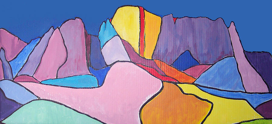 Landscape Painting - Catalina Fugue by Mordecai Colodner
