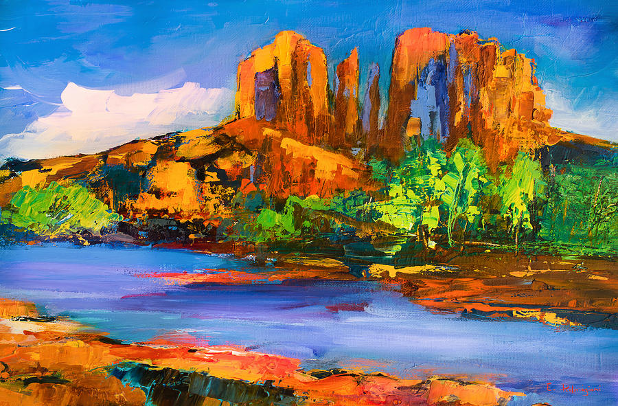 Sedona Painting - Cathedral Rock Afternoon by Elise Palmigiani