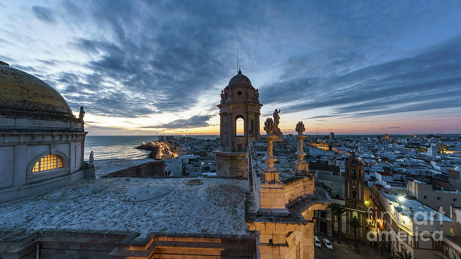 Cathedral View From Levante Tower Cadiz Spain Photograph