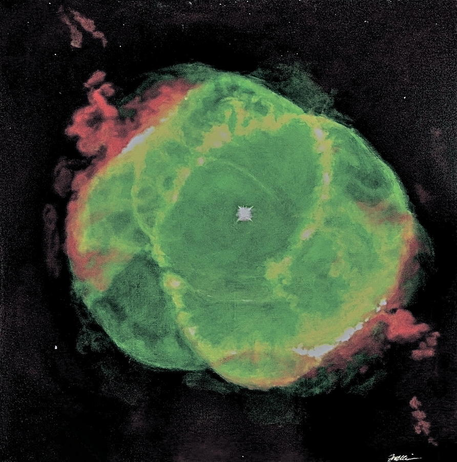 Nasa Painting - Cats Eye Nebula Ngc 6543 by Jim Ellis