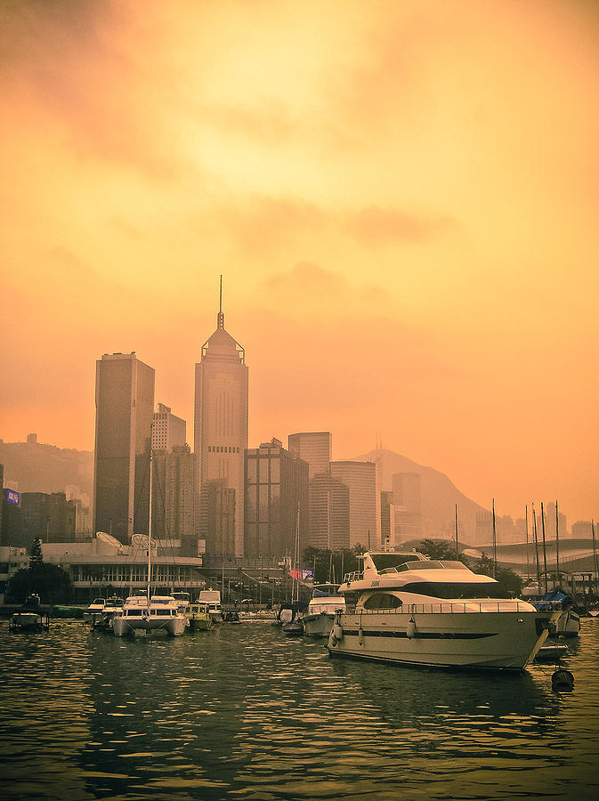 Loriental Photograph - Causeway Bay At Sunset by Loriental Photography