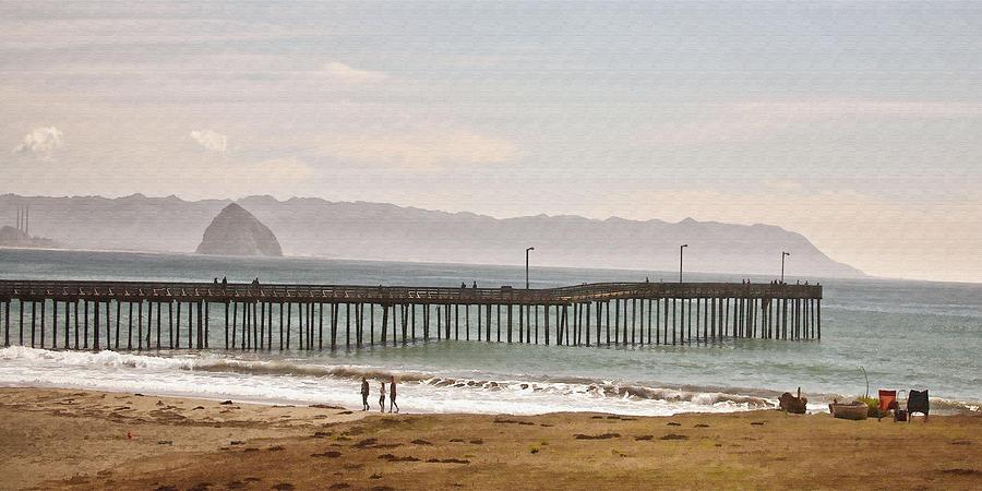 Pier Digital Art - Caycous Pier II by Sharon Foster