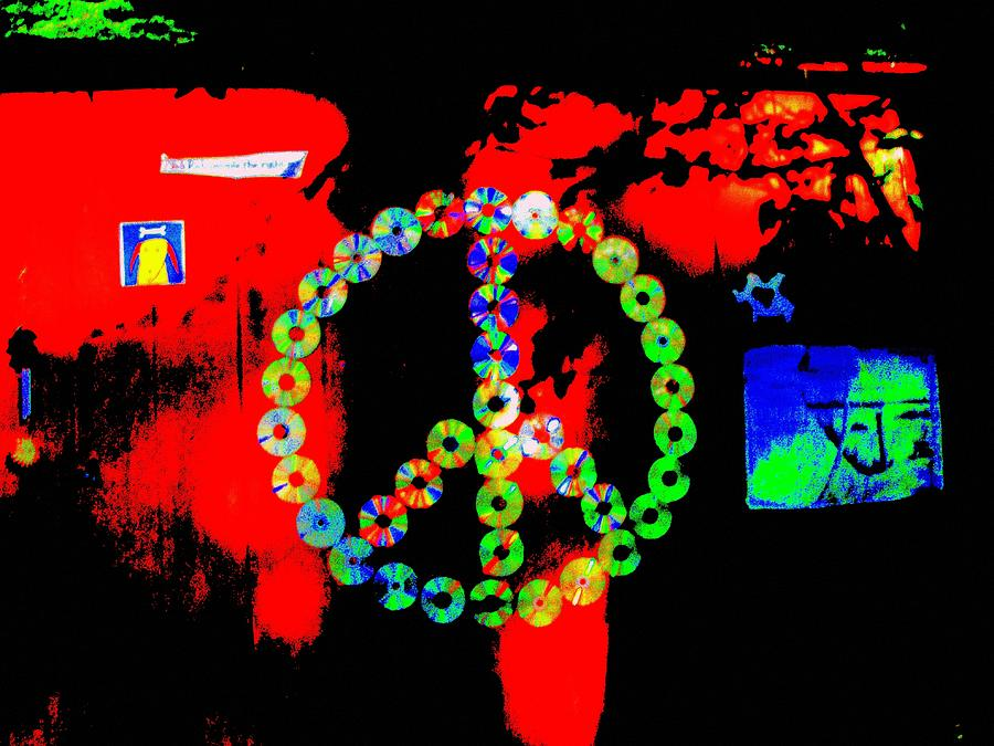 Peace Cd Digital Art - Cd Peace Cycle by Connie Valasco