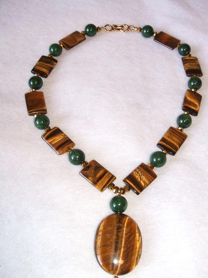 Tiger Eye Jewelry - Cedar Sage And Cinnamon by Linda Levier