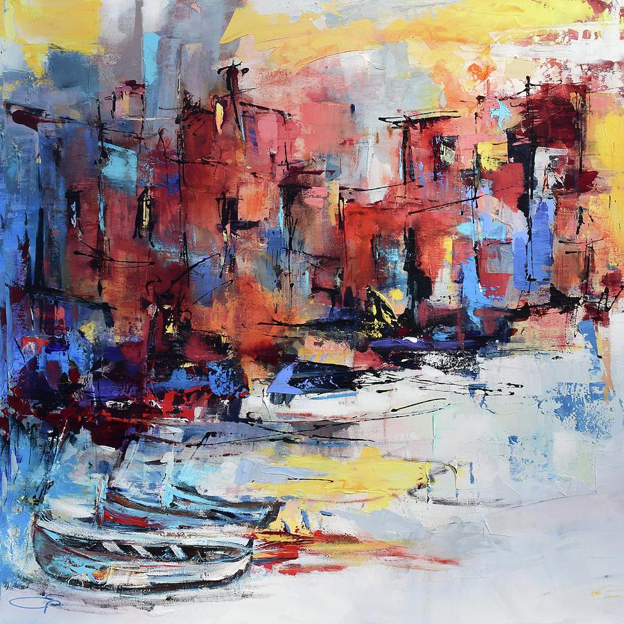Cefalu Painting - Cefalu Seaside by Elise Palmigiani