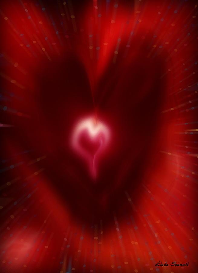 Hearts Digital Art - Celebrate Love by Linda Sannuti