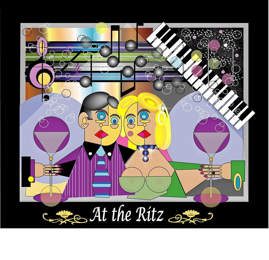 Digital Digital Art - Celebrating At The Ritz by Anne-Elizabeth Whiteway