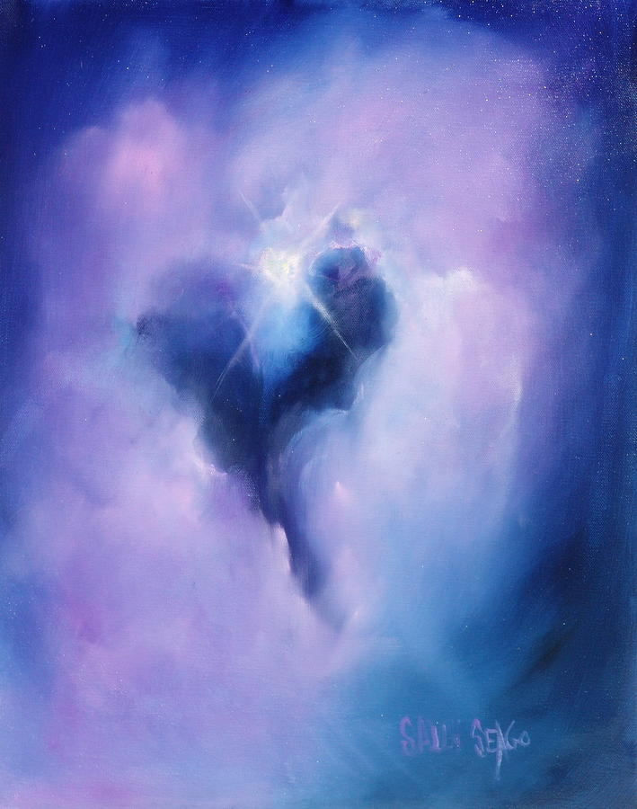 Celestial Painting - Celestial Heart by Sally Seago