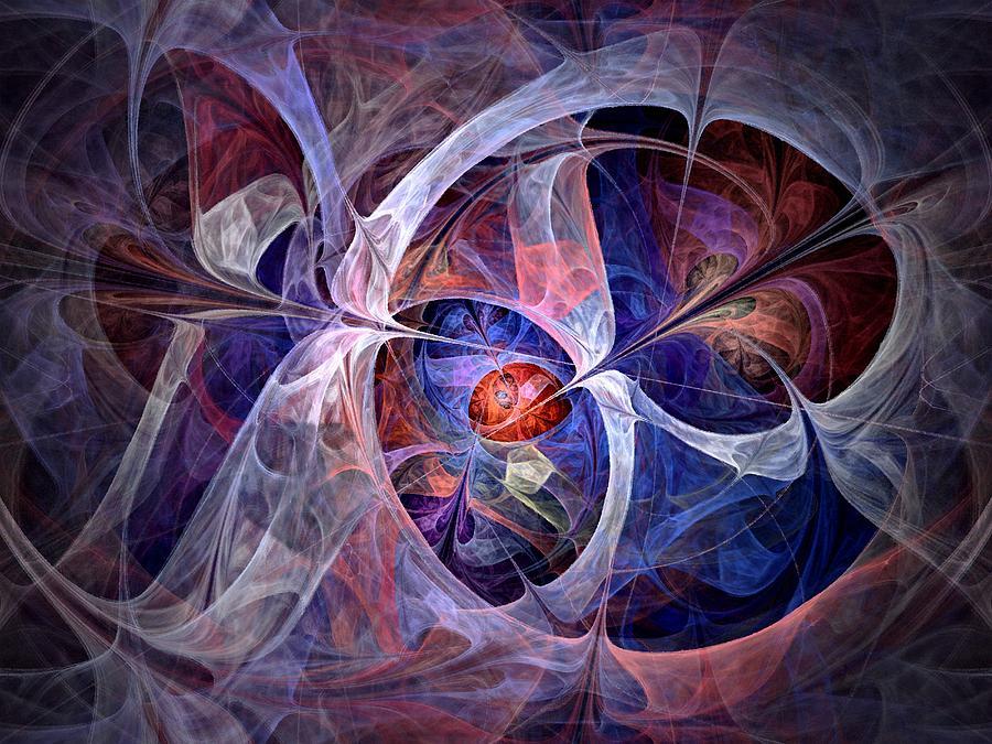 North Star Digital Art - Celestial North - Fractal Art by NirvanaBlues