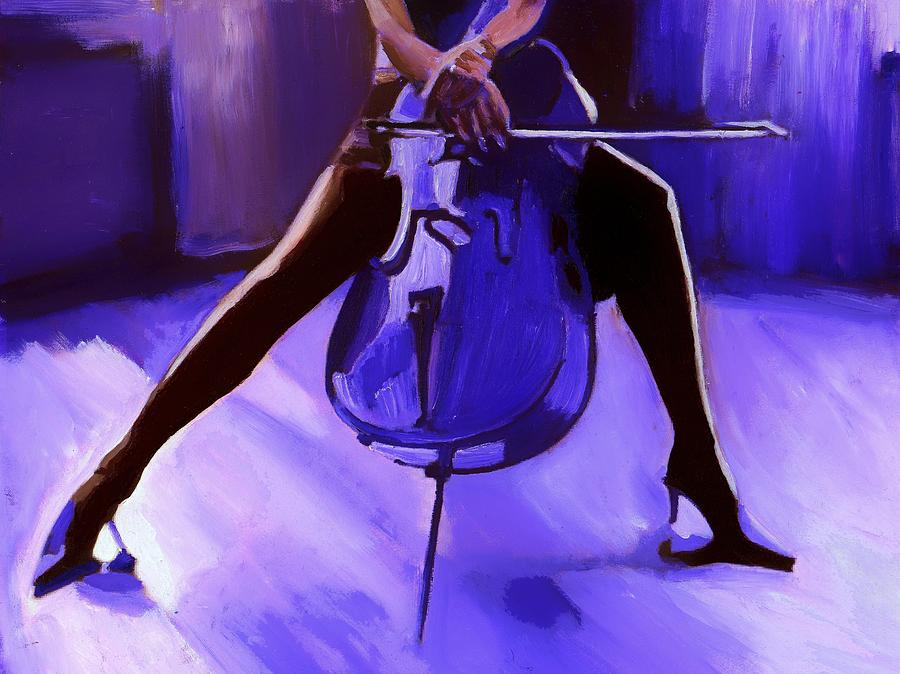 Cello Painting - Cello by Vel Verrept