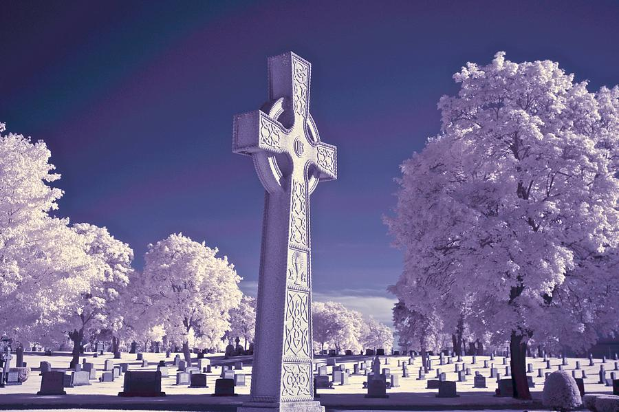 Celtic Photograph - Celtic Cross by James Walsh