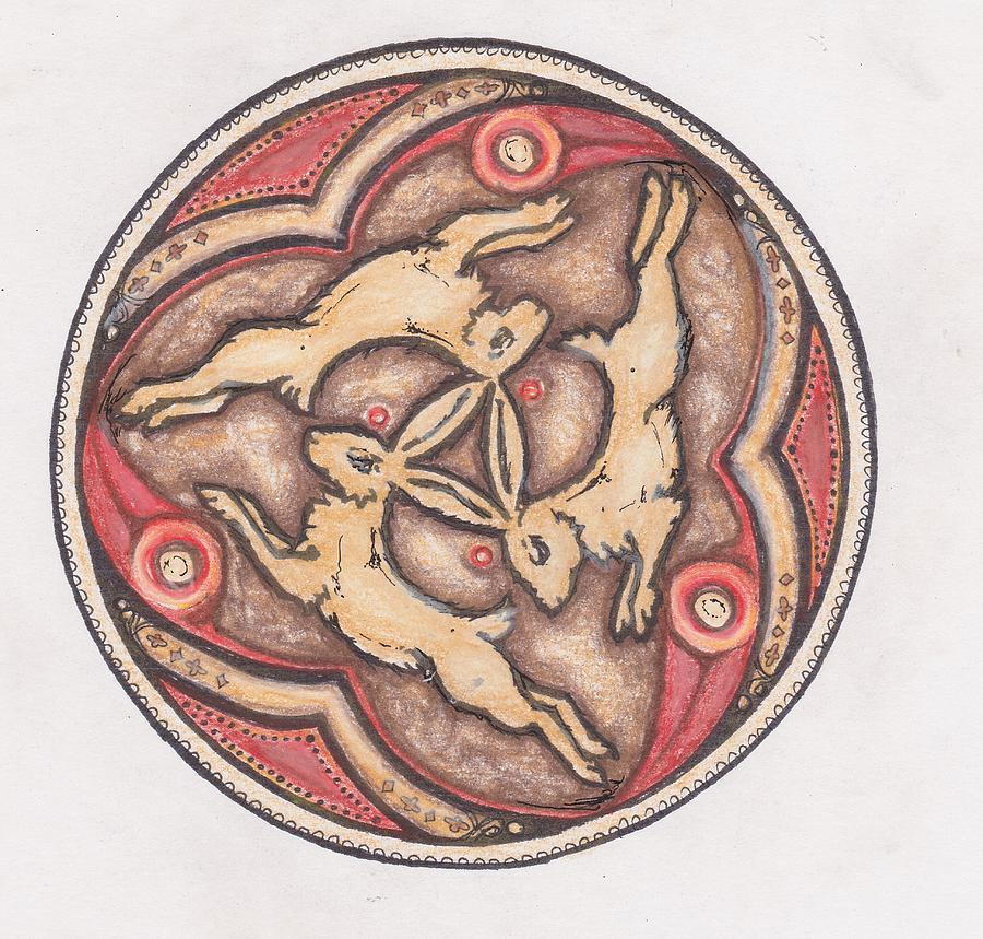 Celtic Rabbits Drawing