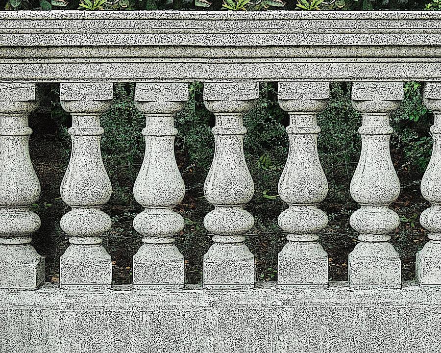 Cement Fence Digital Art