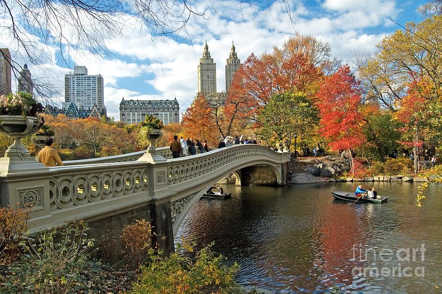 Autumn Photograph - Central Park Autumn Cityscape by Allan Einhorn