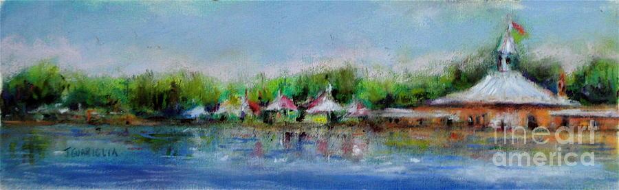 Landscape Pastel - Central Park Ny by Joyce A Guariglia