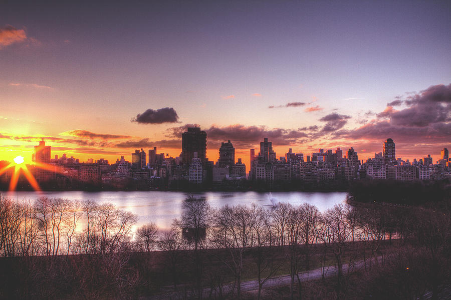 Central Park Sunrise Photograph - Central Park Rises by Ariane Moshayedi