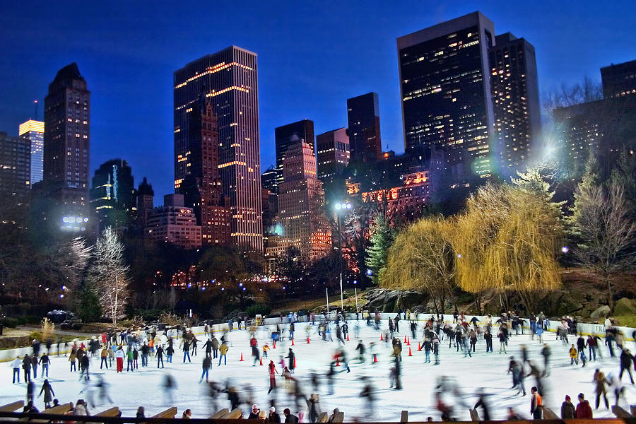 Central Park Skaters Photograph