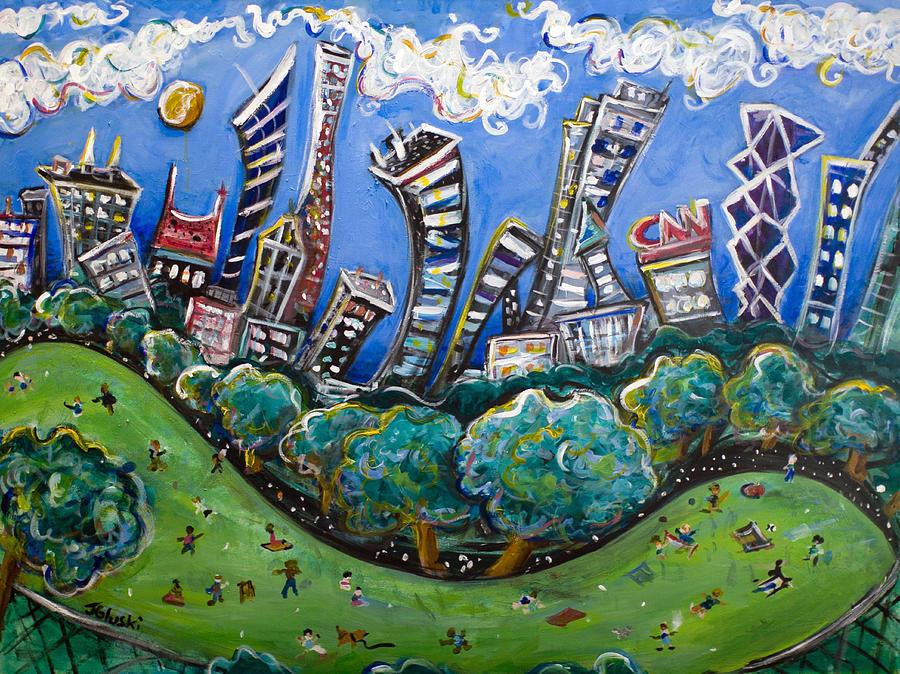 New York City Painting - Central Park South by Jason Gluskin