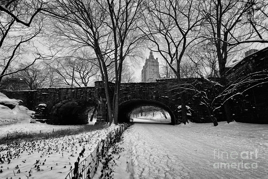 Cold Photograph - Central Park West And The San Remo Building  by John Farnan