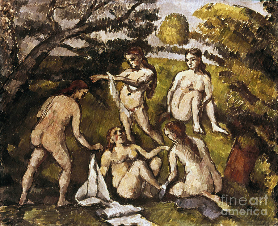 19th Century Photograph - Cezanne: Five Bathers by Granger