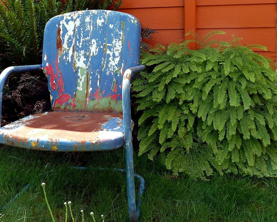 Chair Photograph - Chair Of Many Colors by Patricia Strand