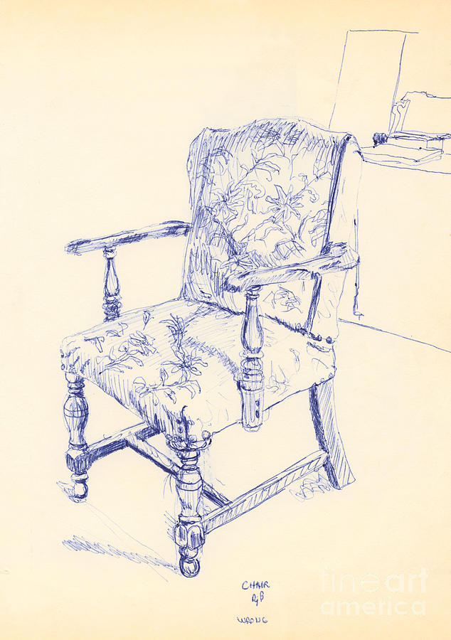 Chair Drawing - Chair by Ron Bissett