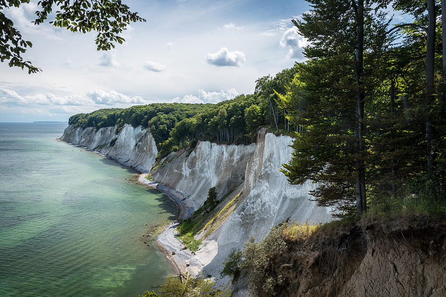 Chalk Cliffs In The National Park Jasmund On Island Ruegen In The ...: fineartamerica.com/featured/chalk-cliffs-in-the-national-park...