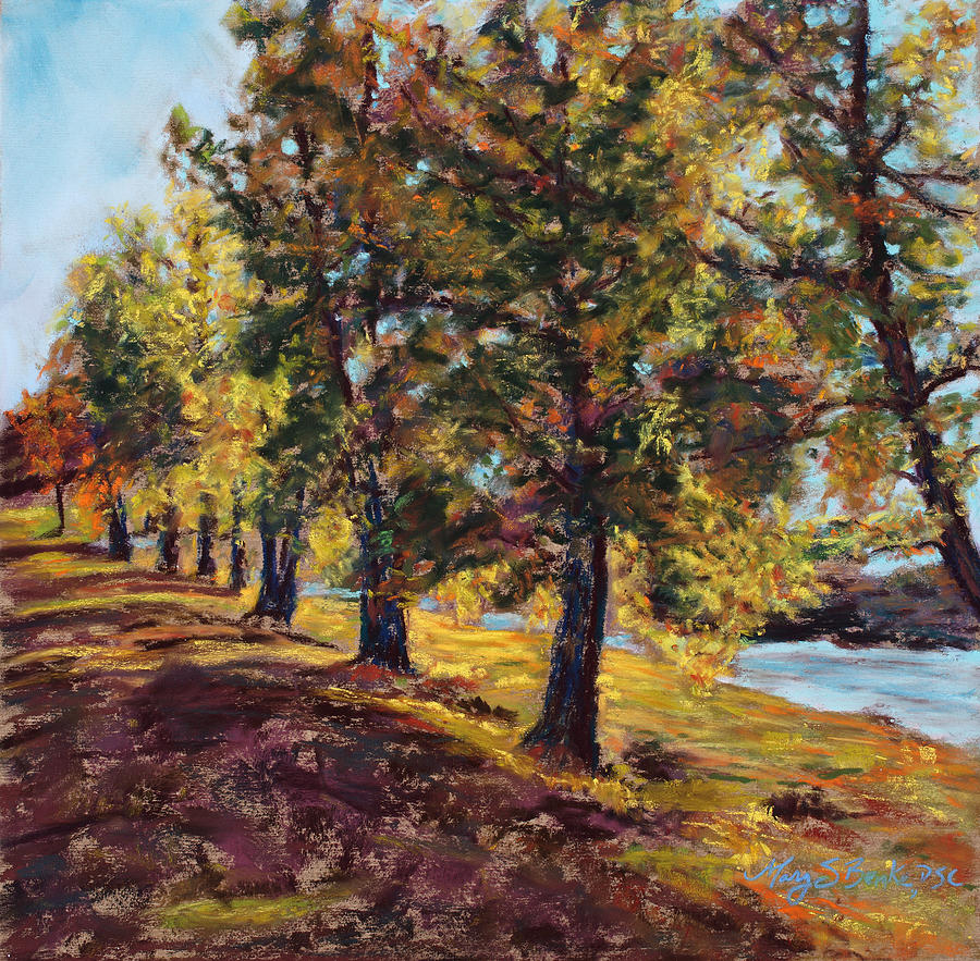 Autumn Painting - Changing Of The Guard by Mary Benke
