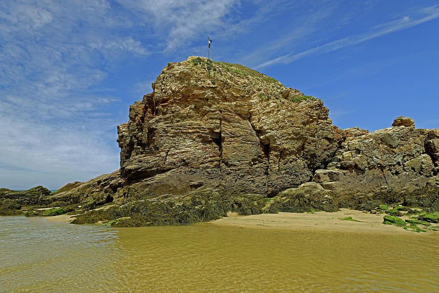 Chapel Rock - Perranporth Beach Photograph