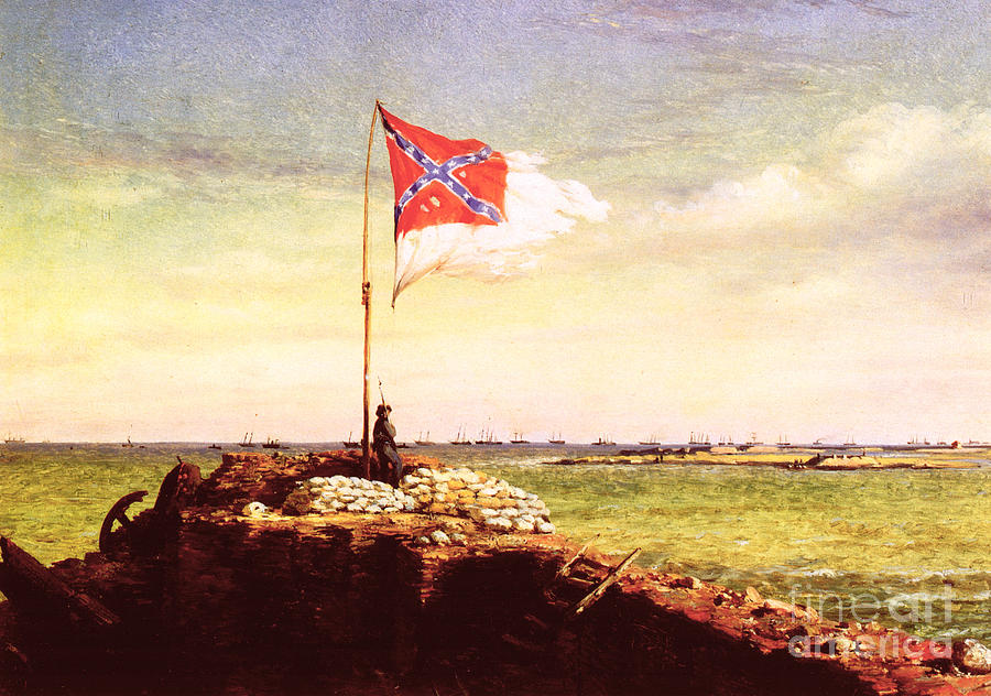 1863 Photograph - Chapman Fort Sumter Flag by Granger