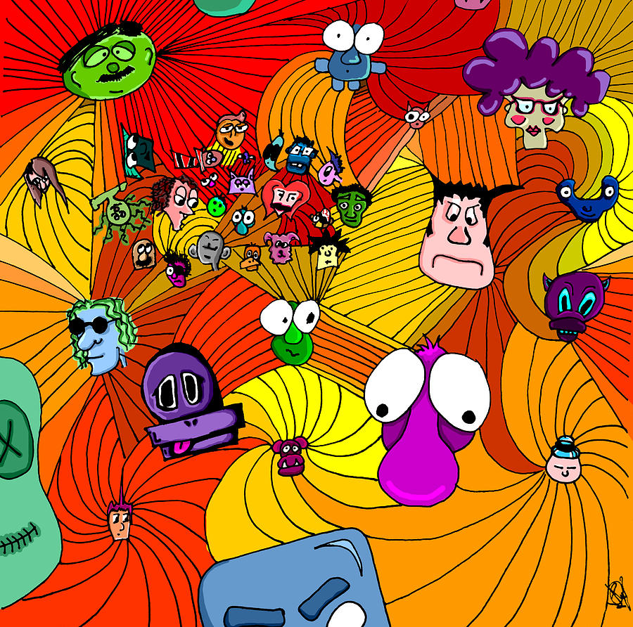 Bright Drawing - Characters In Color by Jera Sky