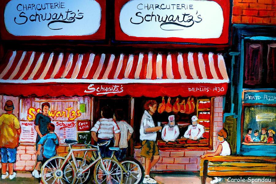 Charcuterie Schwartzs Deli Montreal Painting