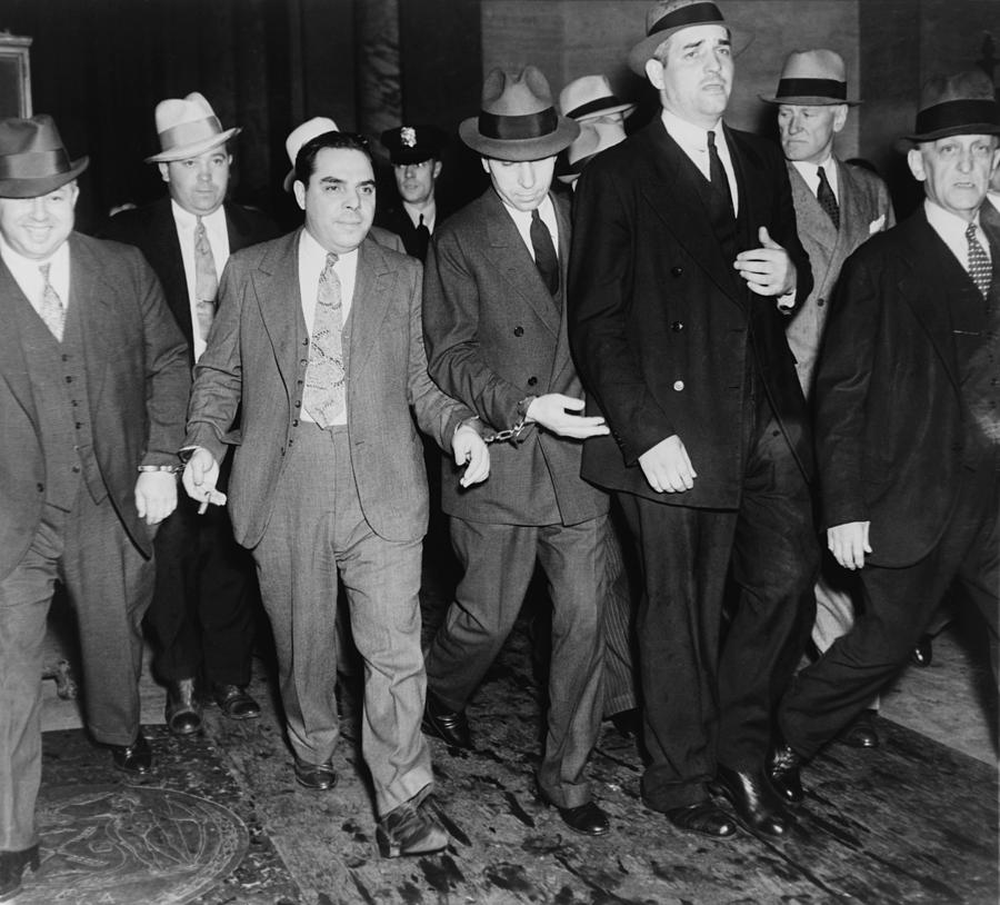 History Photograph - Charles Lucky Luciano In Center by Everett